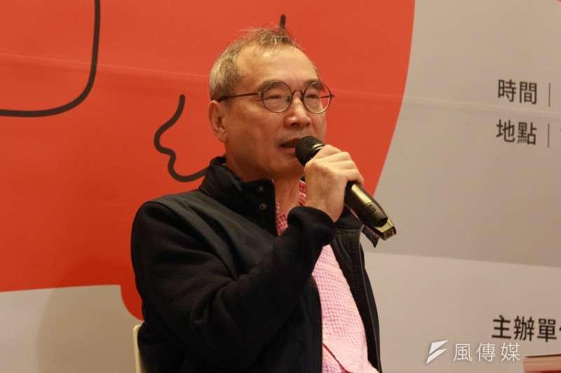 遠流出版董事長王榮文在會上指出,台灣的文創產業,其實是中國大陸都會來取經的,然而缺乏的是可以把產業know how清楚講出來的文創顧問公司。(陳韡誌攝)