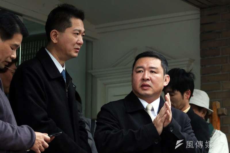 代理副侍衛長的永和警衛室主任林國欽(右)少將。(蘇仲泓攝)