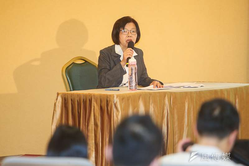 黨產會副主任委員兼發言人施錦芳。(資料照片,陳明仁攝)