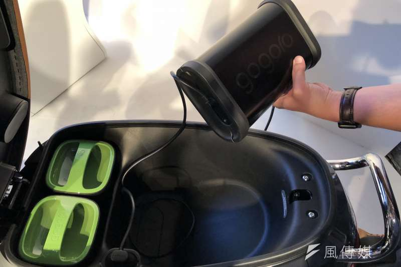 目前gogoro兩顆電池約可以支應 2.6到2.7度電力,約為一般四口家庭日常時持續使用約5到6小時。(資料照,李泰誼攝)