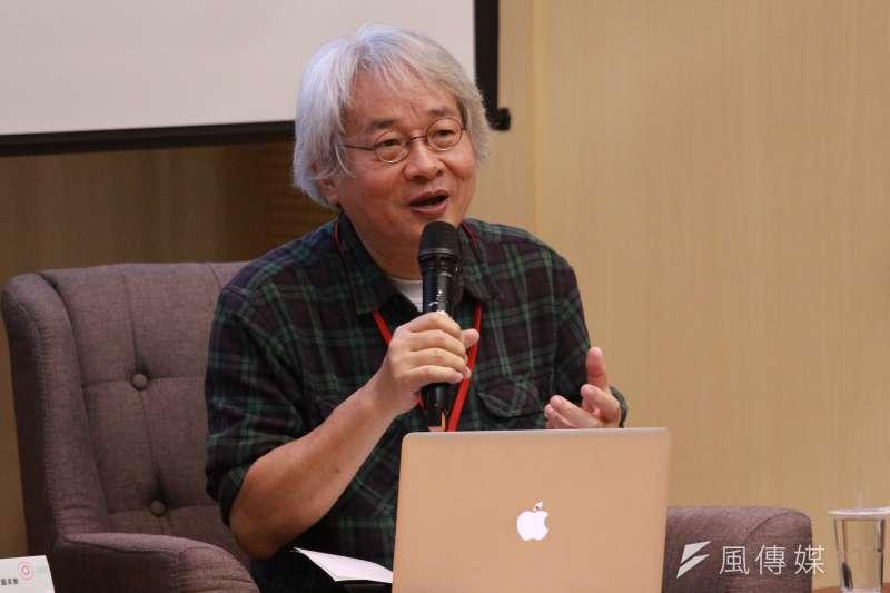 作家馮光遠(見圖)今引述前總統蔣經國的話,反擊網友攻擊蔣萬安「想想爺爺」的言論。(資料照,陳韡誌攝)