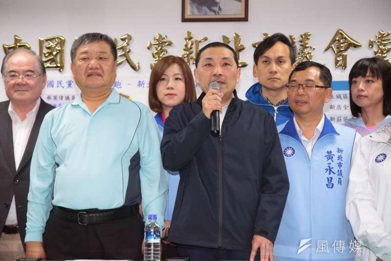 20180406-國民黨新北市長黨內初選6日公布初選結果,由參選人侯友宜勝出。(顏麟宇攝)