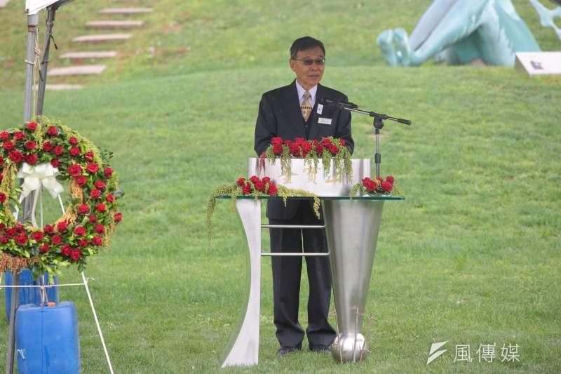 鄭南榕基金會執行長許景河表示,侯友宜既然參選新北市長,就該受選民道德檢視。(顏麟宇攝)