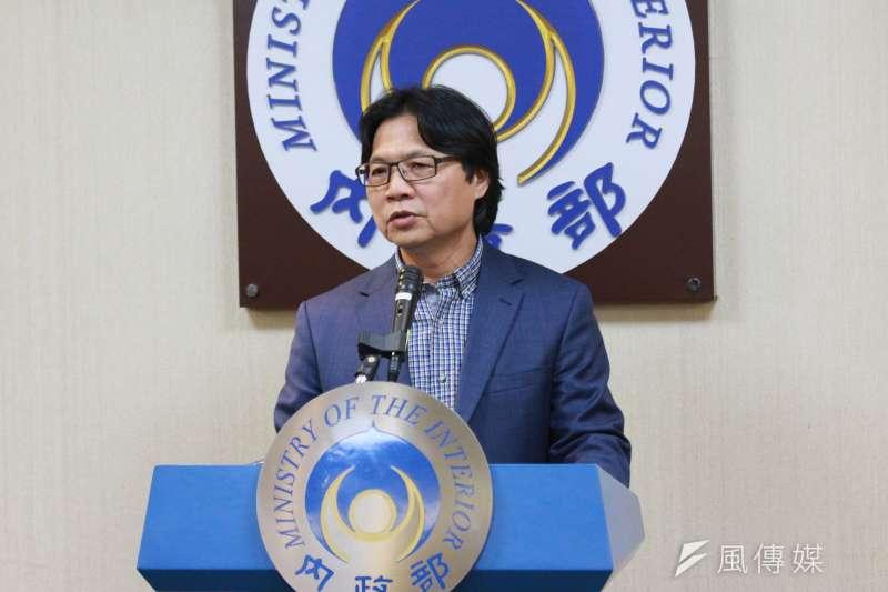 內政部長葉俊榮召開記者會,說明赴錄短期客座講學之事。(陳韡誌攝)
