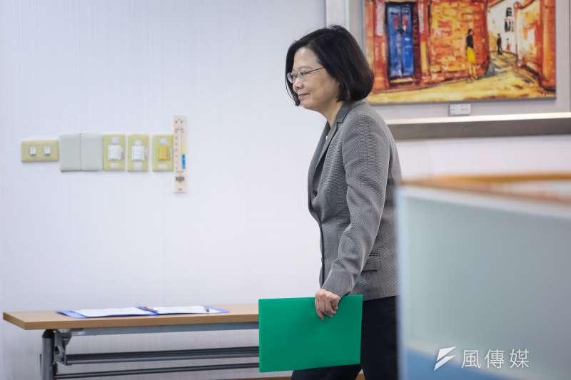 總統蔡英文11日出席民進黨中執會。(顏麟宇攝)