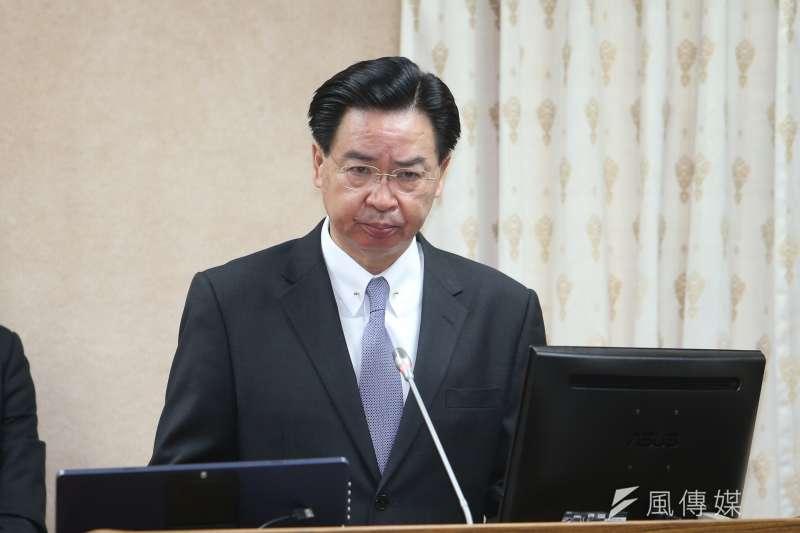 外交部長吳釗燮表示,總統蔡英文本次出訪史瓦濟蘭本來就沒有計劃過境,因為此次租用的飛機機型可以直飛。(資料照,陳明仁攝)