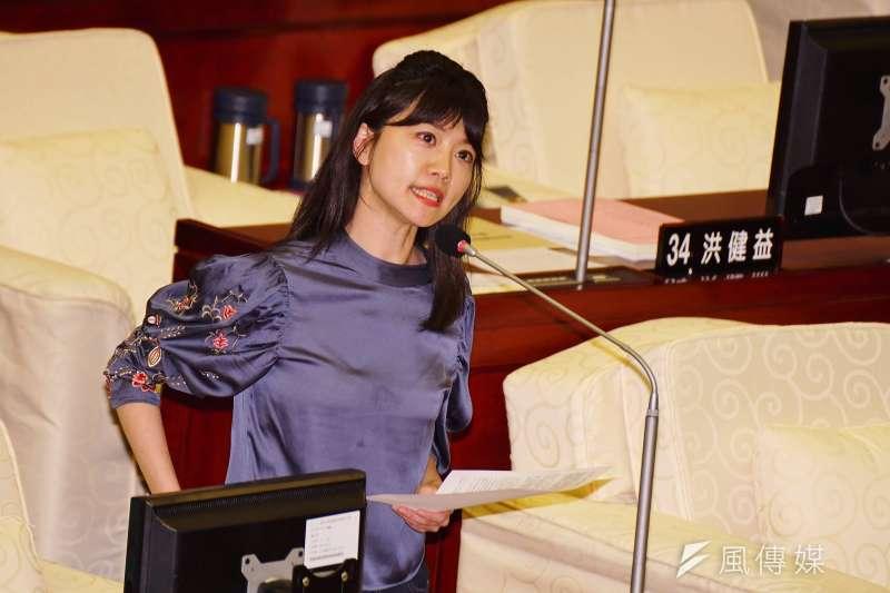 20180411-台北市議員高嘉瑜在市議員初選名列第一。(盧逸峰攝)