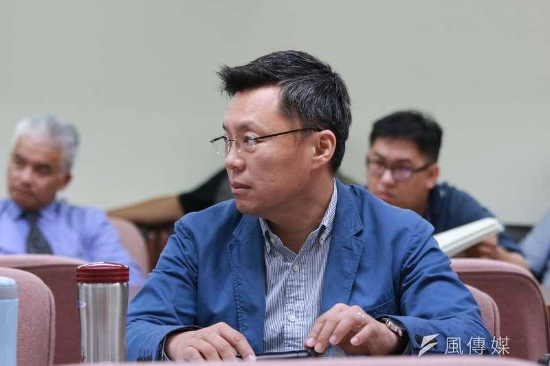 立法委員趙天麟力挺《空污法》修法。(資料照.陳韡誌攝)