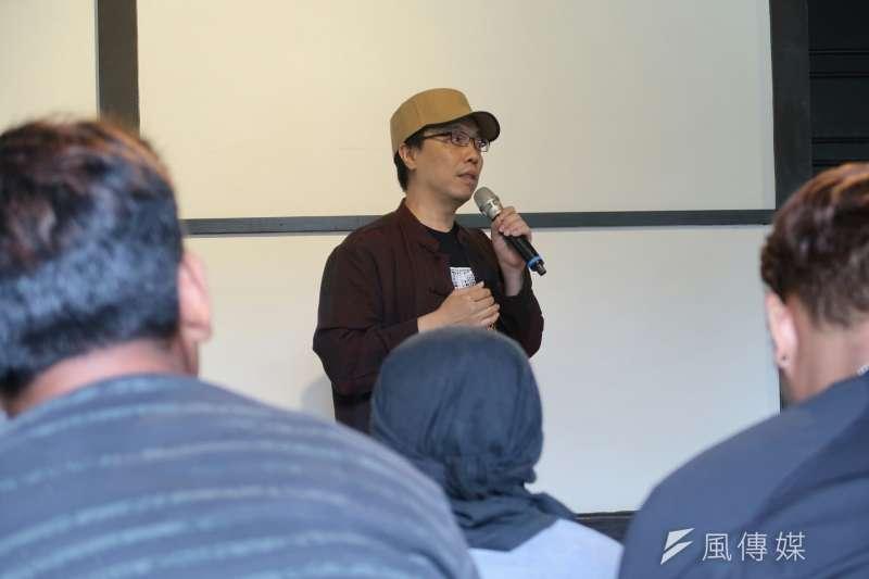 第五屆移民工文學獎在齊東詩社舉行開跑記者會,召集人張正表示,他希望透過這個獎項讓更多弱勢的族群有一個「說話的空間」。(朱冠諭攝)