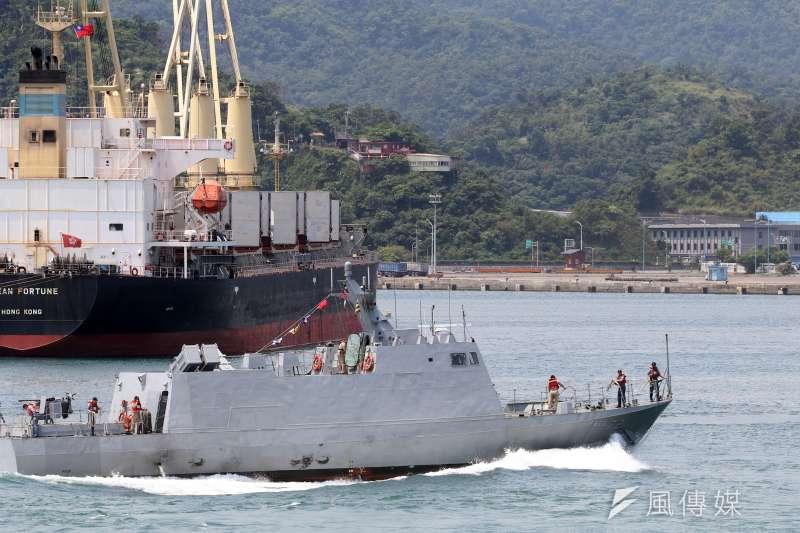 20180413-海軍蘇澳戰備測考。圖為光華六號飛彈快艇。(蘇仲泓攝)