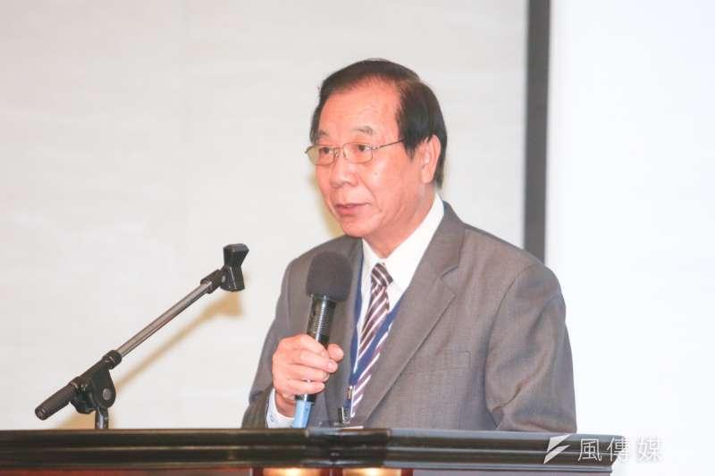 全國工總秘書長蔡練生,出席「中華民國全國工業總會會員大會」。(陳明仁攝)