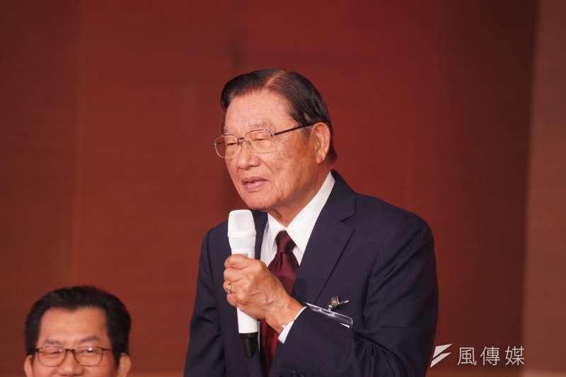 前海基會董事長江丙坤於十二月十日晚間過世,享年八十六歲。(盧逸峰攝)