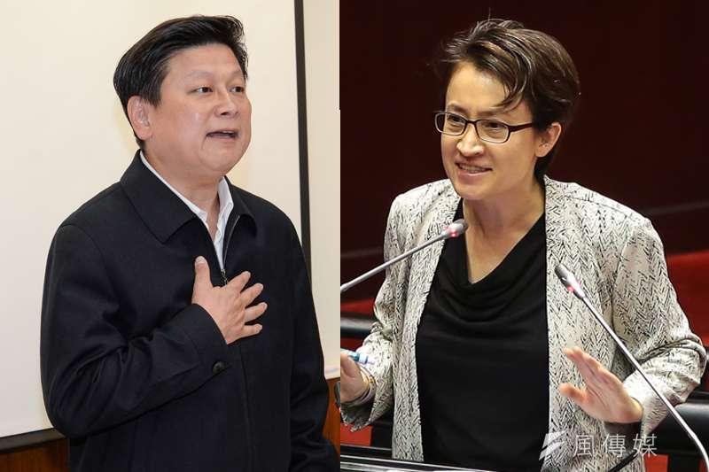泛藍在前花蓮縣長傅崐萁(左)出馬參選立委後埋下分裂隱憂。根據《台灣指標民調》最新民調顯示,有30.2%的民眾支持傅崐萁,另外同樣也有30.2%的選民支持蕭美琴(右),雙方平分秋色。(資料照,顏麟宇、甘岱民攝/影像合成:風傳媒)