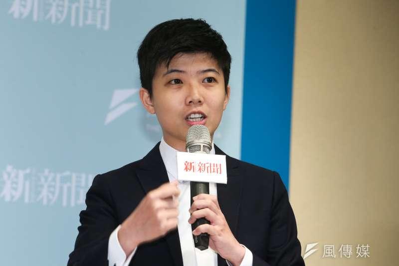 社民黨台北市議員參選人 苗博雅,出席風傳媒與新新聞主辦一場台灣選制的思辯」論壇。(陳明仁攝)