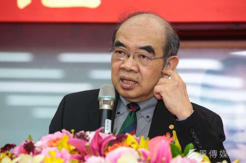 新任教育部長吳茂昆19日出席教育部長交接典禮。(顏麟宇攝)