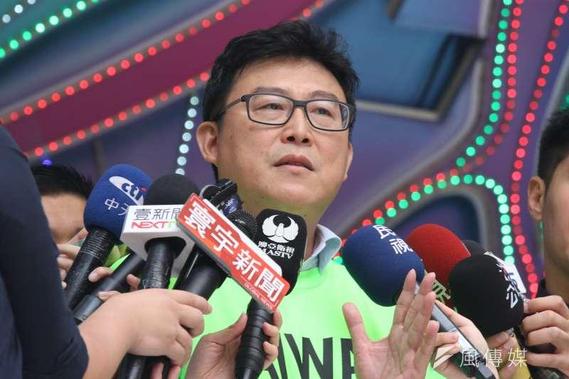 針對被稱動員「走路工」參加遊行,民進黨台北市長候選人姚文智表示,這是網路霸凌、造謠生事。(資料照,陳韡誌攝)