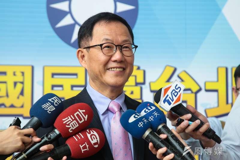 國民黨台北市長初選參選人丁守中今在臉書上宣示,若參選只得第二名,將永遠退出政壇。(資料照,顏麟宇攝)