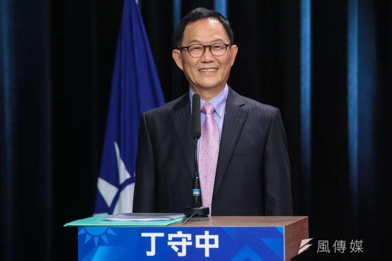 20180421-國民黨台北市長初選參選人丁守中21日出席初選辯論會。(顏麟宇攝)