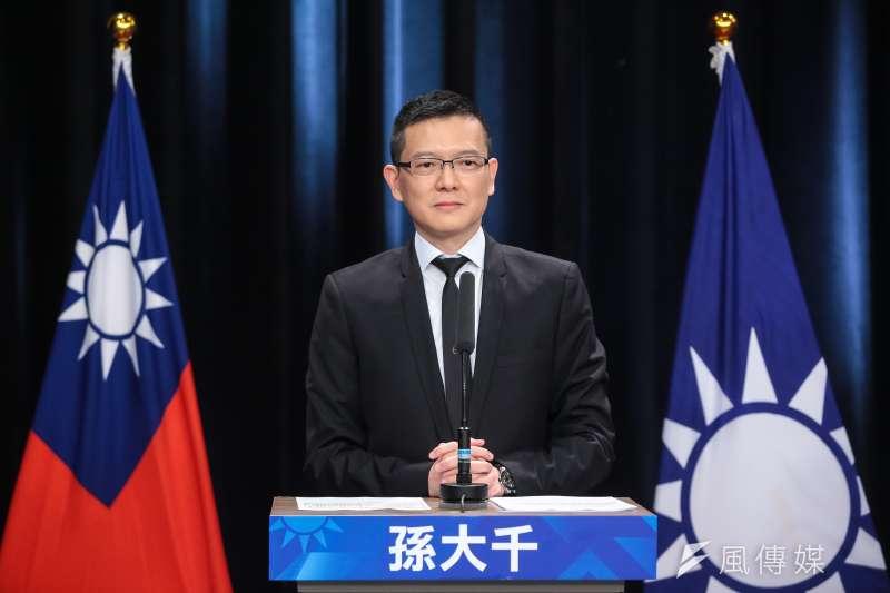 20180421-國民黨台北市長初選參選人孫大千21日出席初選辯論會。(顏麟宇攝)