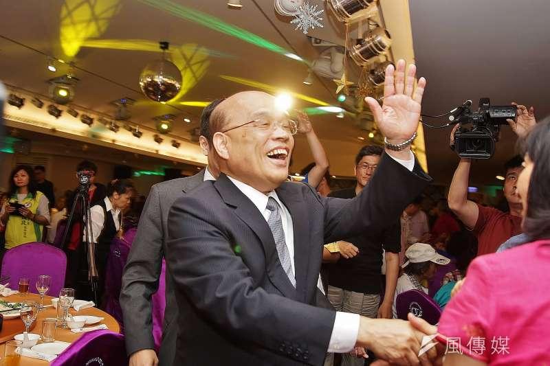 民進黨派出前行政院長蘇貞昌參選2018新北市長選舉,過去蘇貞昌在縣長任內立下許多亮眼政績,蘇貞昌出場後的雙北效應應是過去在縣長任內的政績。(資料照,盧逸峰攝)