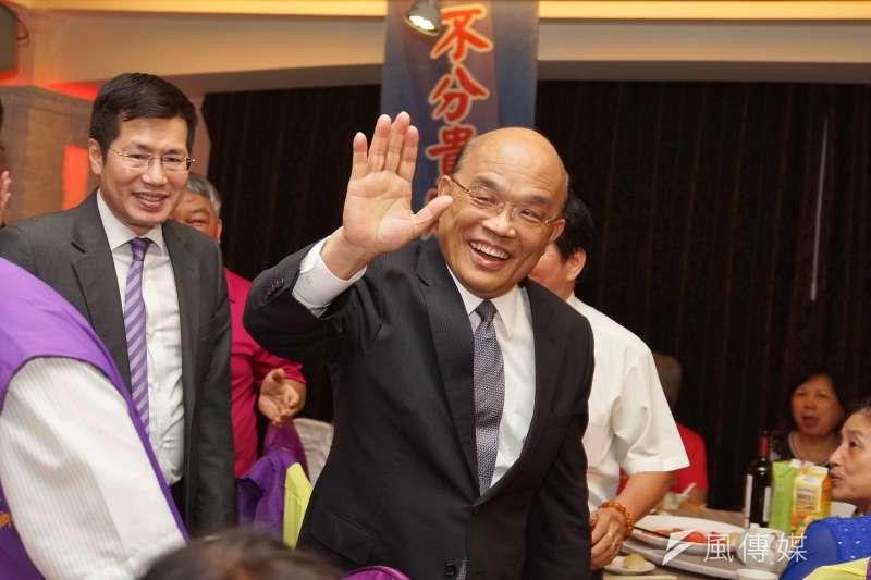 前行政院長蘇貞昌明將私下拜訪前行政院長游錫堃,尋求支持,力拚市長大選。(盧逸峰攝)