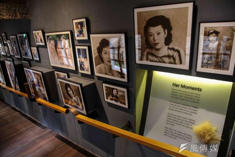 阿嬤家─和平與女性人權館,一樓長廊「她們的時光」。(顏麟宇攝)