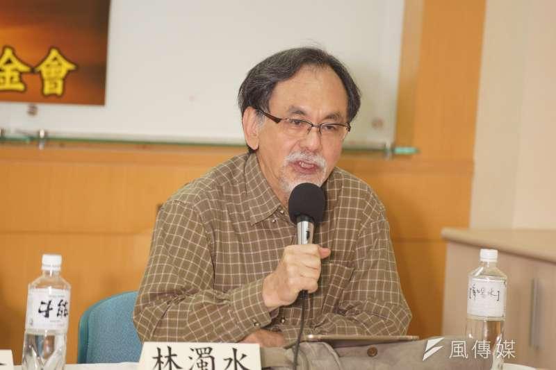 民進黨大老林濁水(見圖)今說,「賴清德不參選,才真的非為民進黨和台灣大大憂心不可。」(資料照,盧逸峰攝)