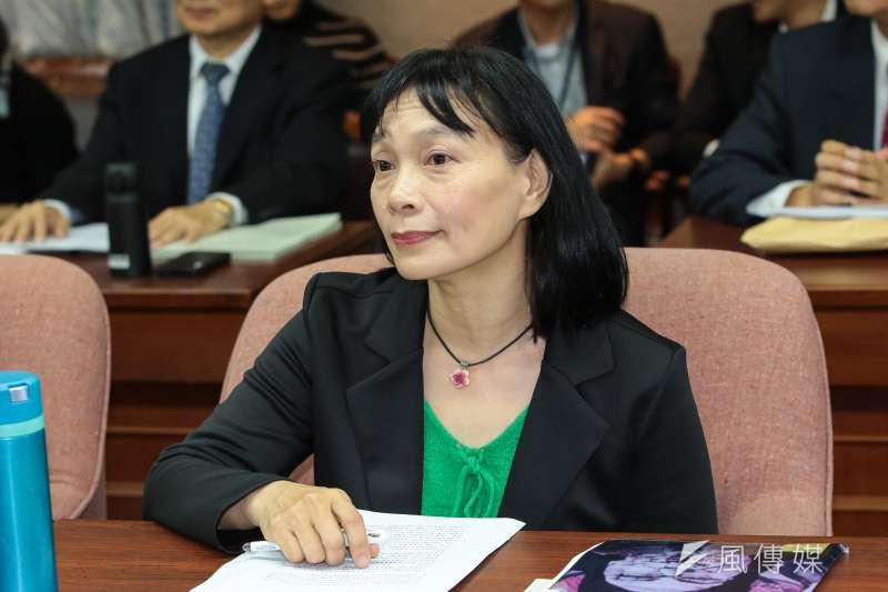促轉會委員楊翠25日出席立院司法法制委員會備詢。(顏麟宇攝)