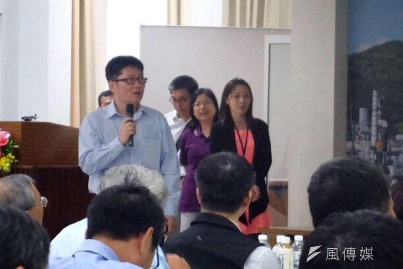 2018年4月27日,勞動部於高雄煉油廠舉行企業工安高峰會,中油大林廠職災當事人出席(謝孟穎攝)