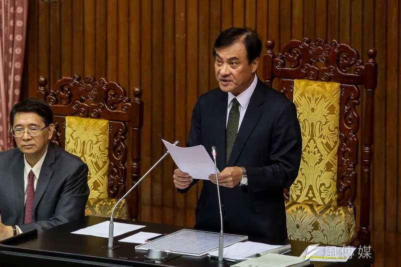 20180427-立法院長蘇嘉全27日主持新任檢察總長人事同意權案,被提名人江惠民獲同意票84張,順利通過。(顏麟宇攝)