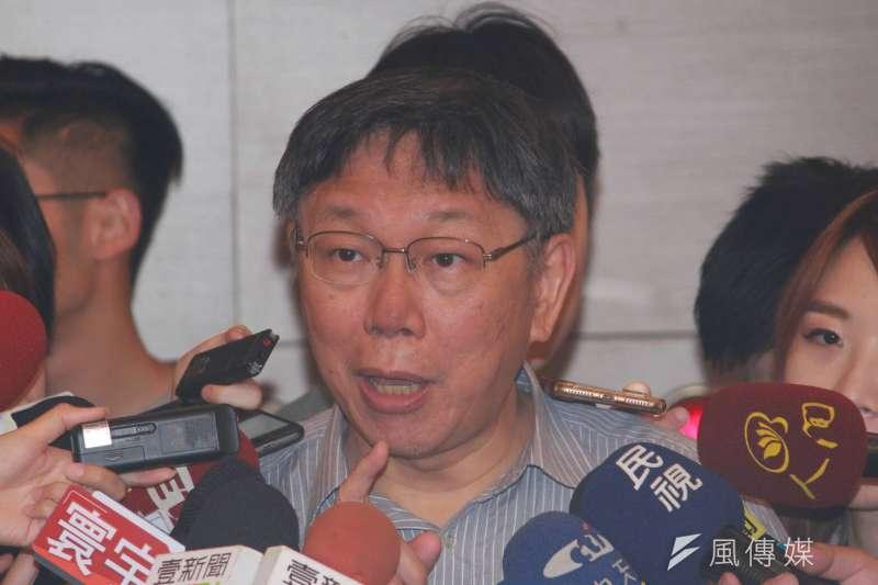 台北市長柯文哲(資料照.方炳超攝)