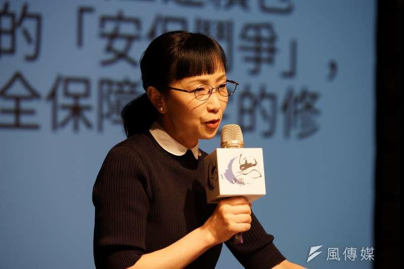 龍應台文化基金會邀請日本作家劉燕子,以「日本:1968的思想與行動探索」為題進行演說。(盧逸峰攝)