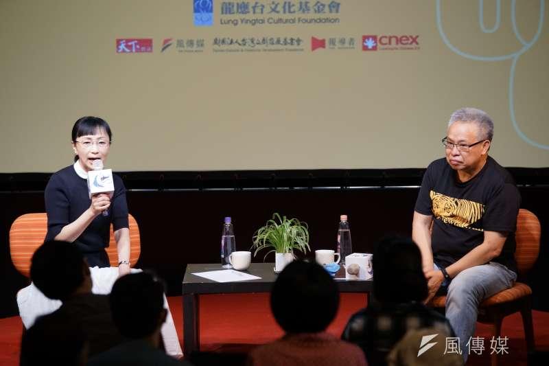 20180428-思沙龍以「日本:1968的思想與行動探索」為題,由傅月庵及劉燕子對談。(盧逸峰攝)