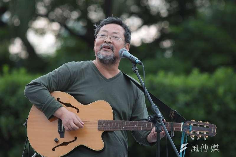 20180428-歌手陳明章28日出席428藻礁音樂會。(顏麟宇攝)