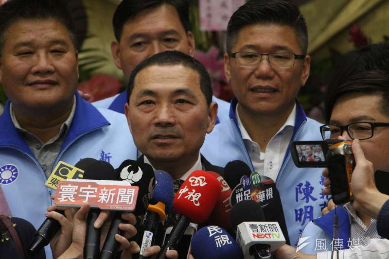 國民黨新北市長候選人侯友宜。(資料照片,陳韡誌攝)