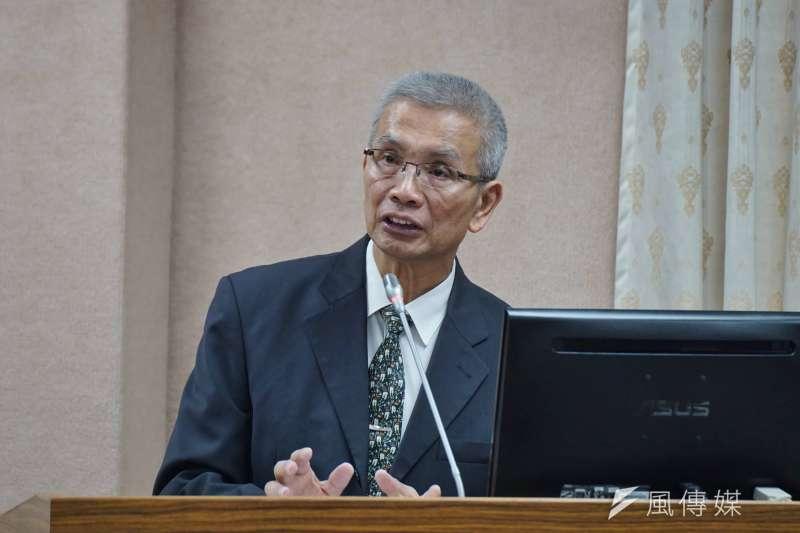 20180502-財政委員會,財政部長許虞哲出席備詢。(盧逸峰攝)