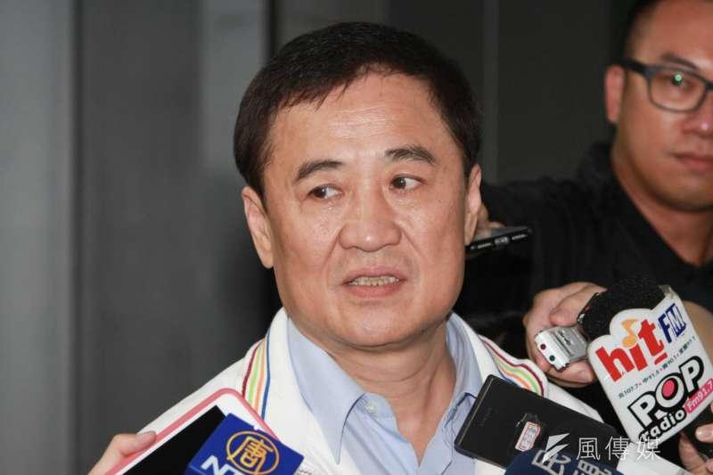 20180503-台北市副市長陳景峻接受媒體採訪。(方炳超攝)