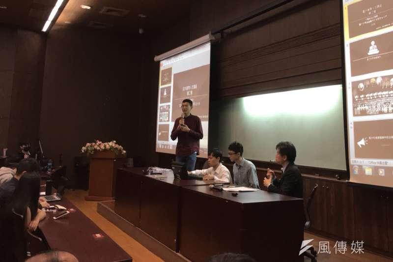 台大政治系教授陳淳文,談起遴選風波中的法學問題,他希望大家可以反思,法律的限制真的能剝奪兼職權嗎?(吳尚軒攝)
