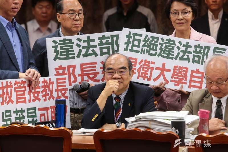 教育部長吳茂昆自上任以來爭議不斷,於昨(29)日請辭獲准。(資料照,顏麟宇攝)