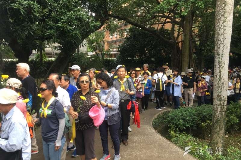 20180504-台灣大學今(4)日下午兩點在「傅園」舉行「傅斯年校長追思會暨紀念五四運動晉百年」活動。(李亞璇攝)