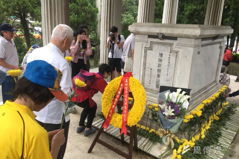 台灣大學今(4)日下午兩點在「傅園」舉行「傅斯年校長追思會暨紀念五四運動晉百年」活動。(李亞璇攝)