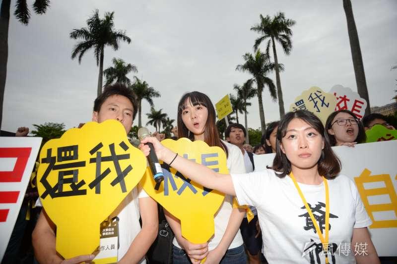 20180504-台大學生聲援管中閔,發起「新五四運動」。(甘岱民攝)