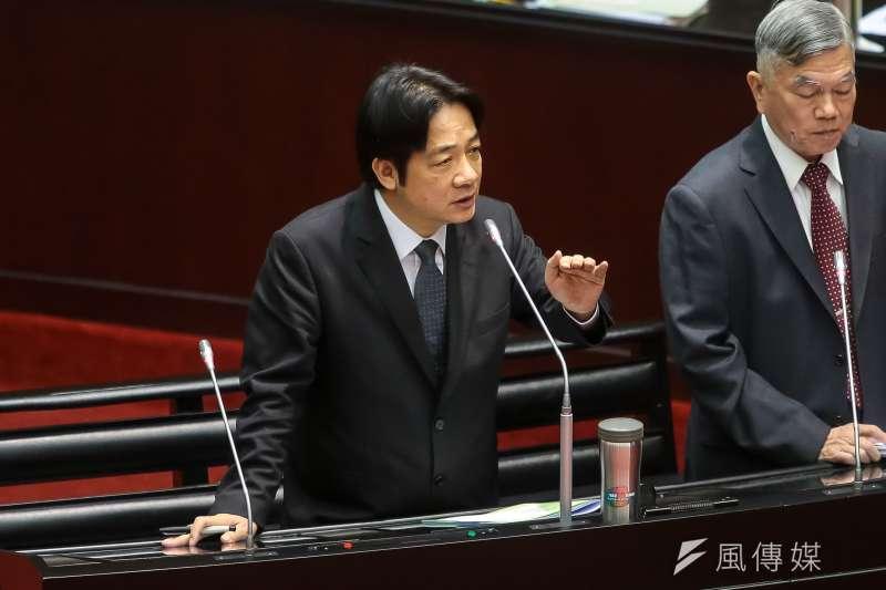 20180504-行政院長賴清德4日於立院針對能源政策進行專案報告。(顏麟宇攝)