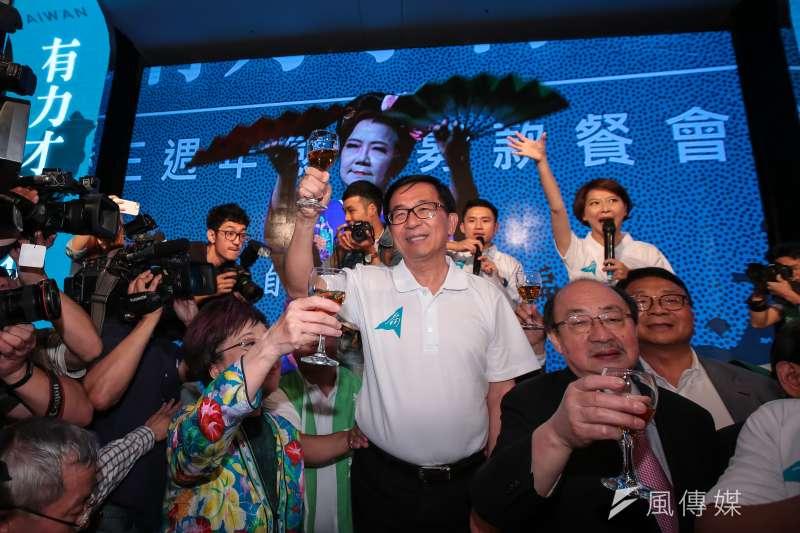 民進黨黨主席選舉,前總統陳水扁也專程北上投票。(資料照片,顏麟宇攝)
