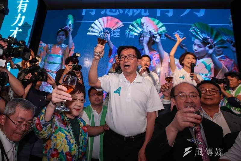 前總統陳水扁分享當年北市勝選經驗,並表示,24年前的競選歌曲《春天的花蕊》,讓他成為第一位民進黨籍首都市長。(資料照,顏麟宇攝)