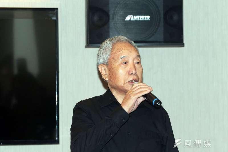 88歲退役士官長蔡伯伯4日出席「強化退輔制度,落實照顧退役袍澤」記者會。(蘇仲泓攝)