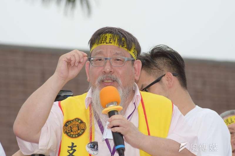 20180505-「55支持陪審大遊行」,台灣陪審團協會理事長張靜。(甘岱民攝)