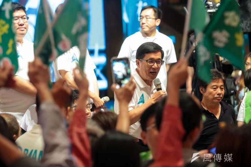 年底大選僅剩一個多月,前總統陳水扁9日在臉書《新勇哥物語》推出「阿扁選戰經驗談(一)」。(資料照,顏麟宇攝)