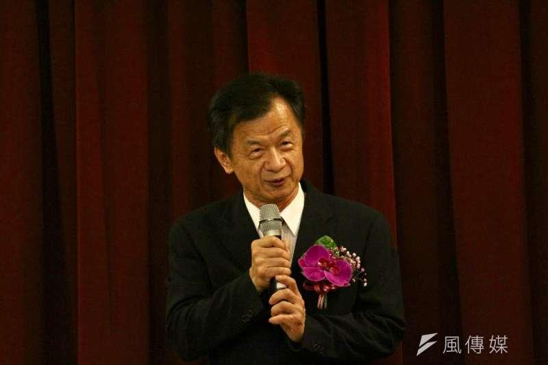 20180508-最高法院檢察署8日舉行檢察總長交接典禮,法務部長邱太三。(陳韡誌攝)