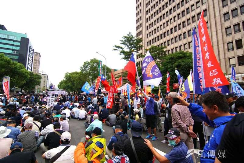 反年改團體陳抗。(資料照,盧逸峰攝)